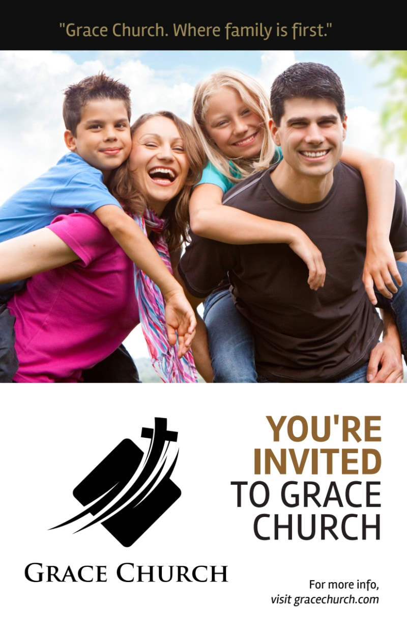 You Are Invited Church Flyer Template Preview 2