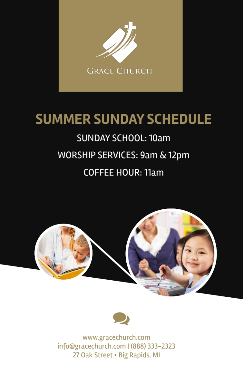 You Are Invited Church Flyer Template Preview 3