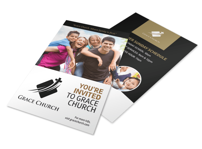 You Are Invited Church Flyer Template Preview 1