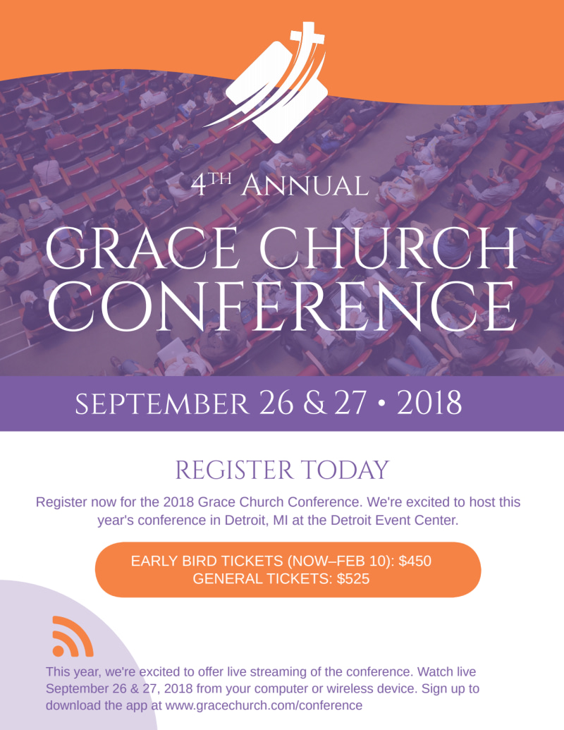 4th Annual Grace Church Conference Flyer Template Preview 2