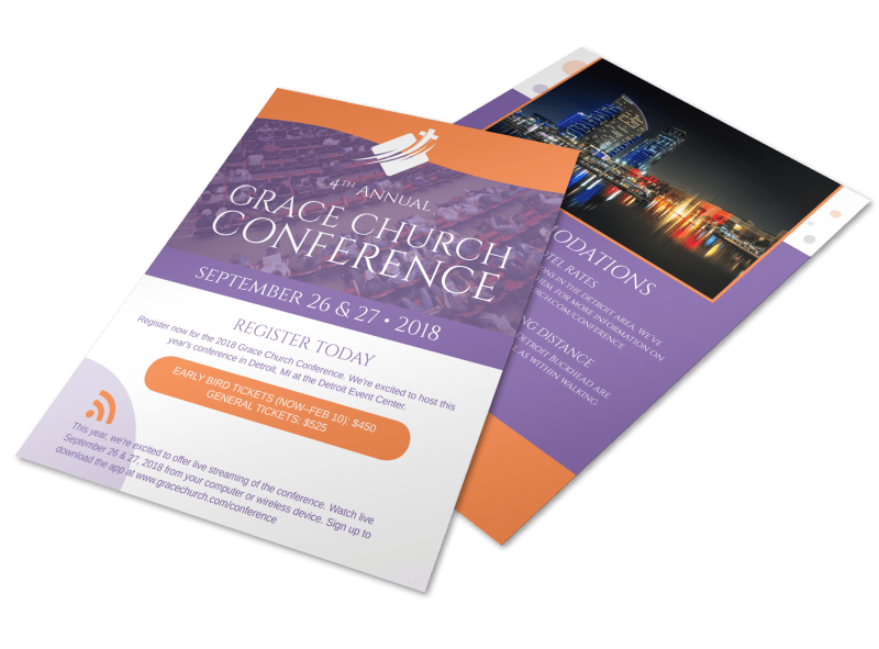 4th Annual Grace Church Conference Flyer Template Preview 1