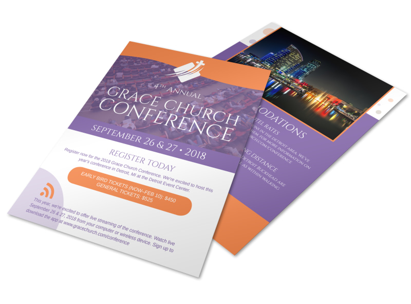 4th Annual Grace Church Conference Flyer Template | MyCreativeShop