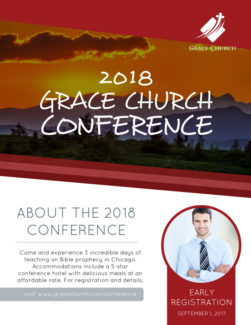 About Our Church Conference Flyer Template Preview 2