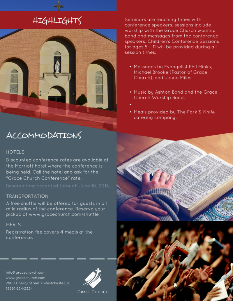 About Our Church Conference Flyer Template Preview 3