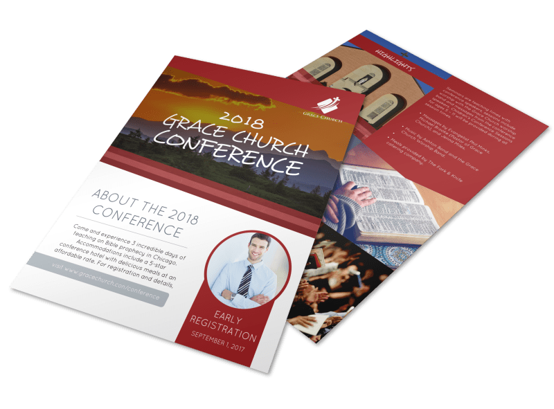 About Our Church Conference Flyer Template Preview 1