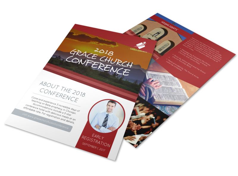 About Our Church Conference Flyer Template Preview 4
