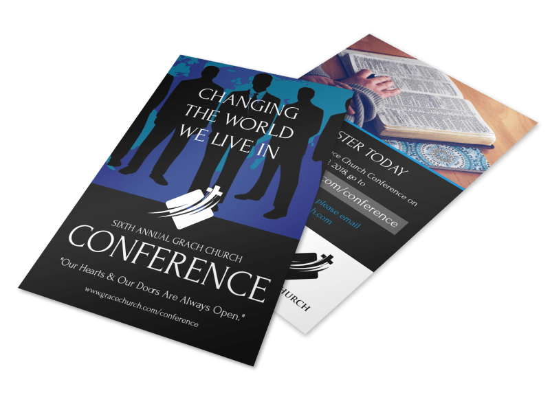 Annual Change The World Church Conference Flyer Template Preview 1