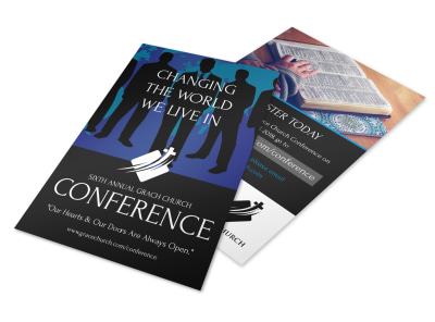 Annual Change The World Church Conference Flyer Template preview