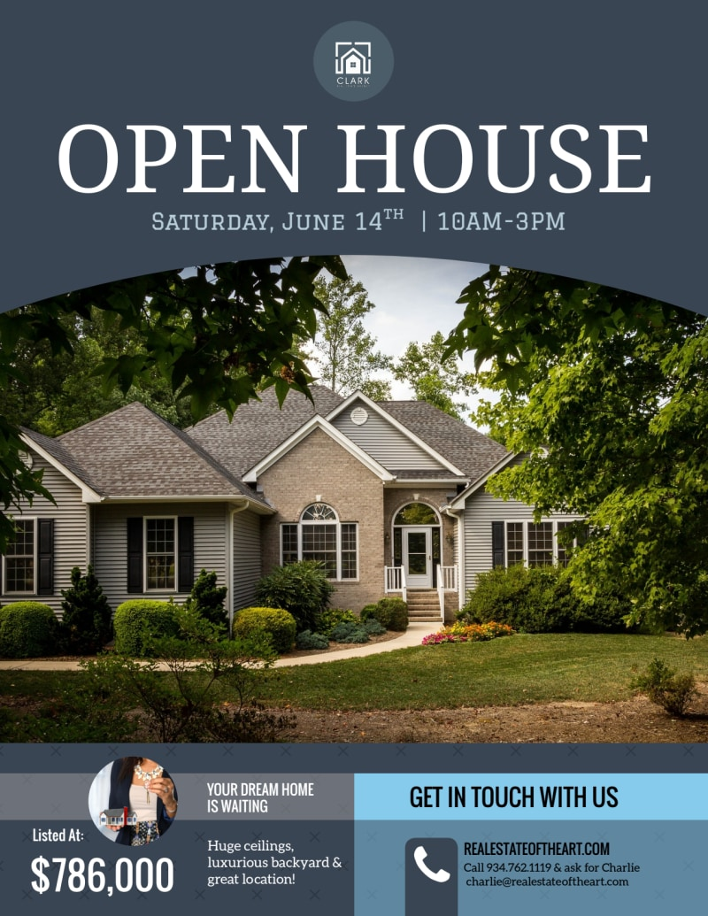 Dream Home Real Estate Open House Flyer Template Preview 2