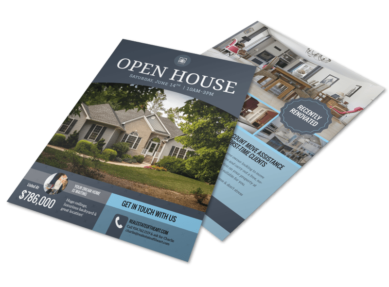 Dream Home Real Estate Open House Flyer Template Preview 1