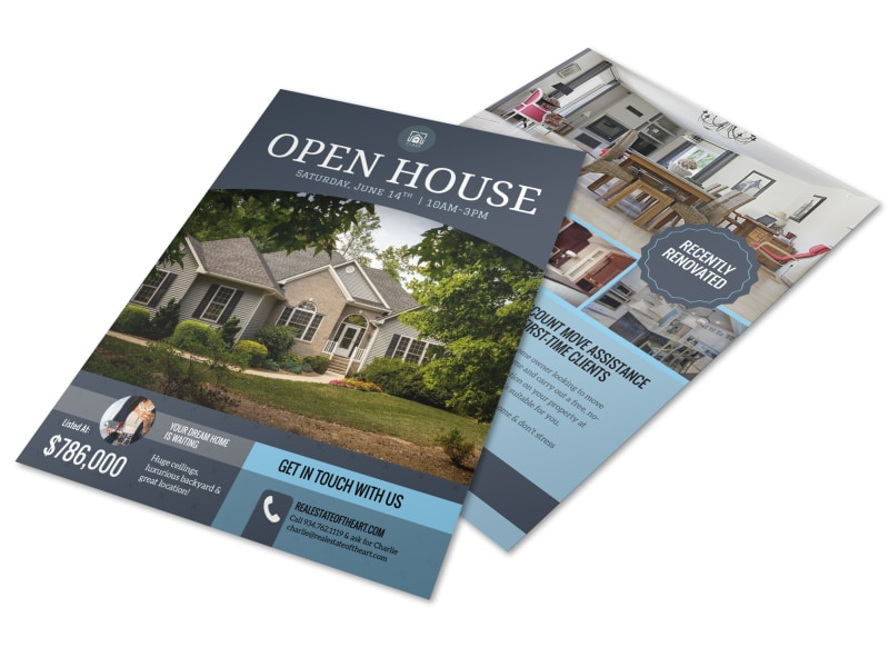 Dream Home Real Estate Open House Flyer Template | MyCreativeShop