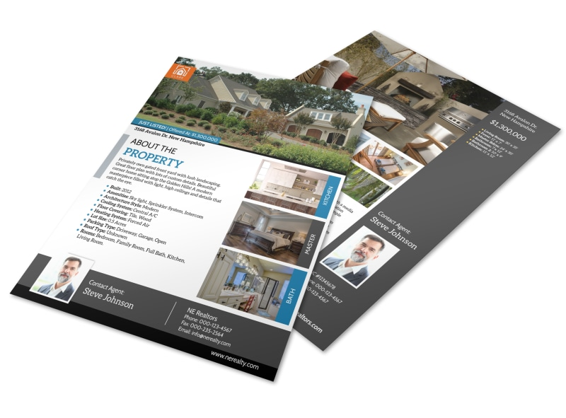 New Hampshire Real Estate Just Listed Flyer Template MyCreativeShop - Just listed flyer template