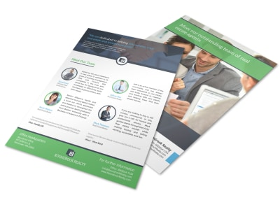 Corporate Real Estate Meet Our Team Flyer Template preview