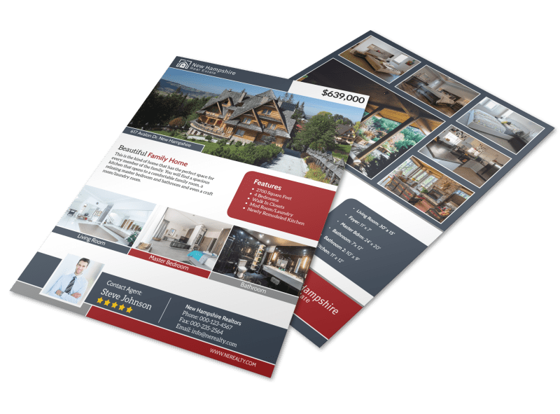 New Hampshire Real Estate Featured Property Flyer Template Preview 1