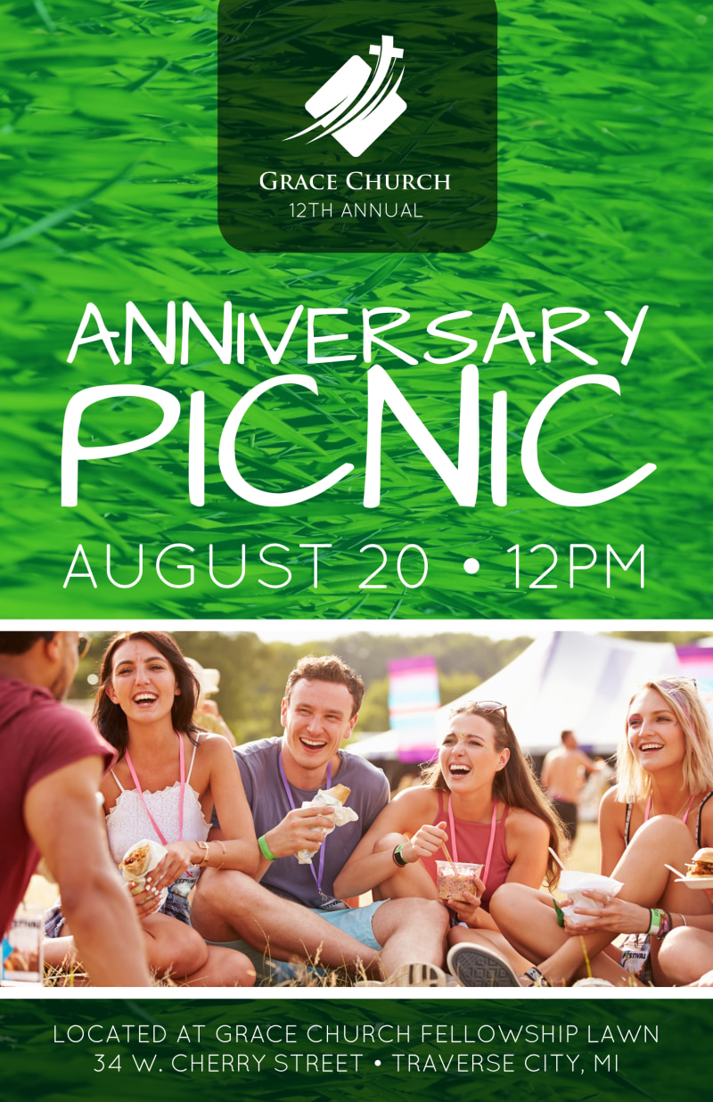 Church Anniversary Picnic Poster Template Preview 2