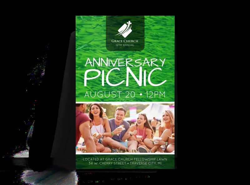 Church Anniversary Picnic Poster
