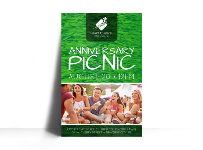 Church Anniversary Picnic Poster Template