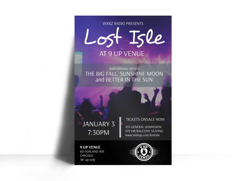 Church Lost Isle Concert Poster