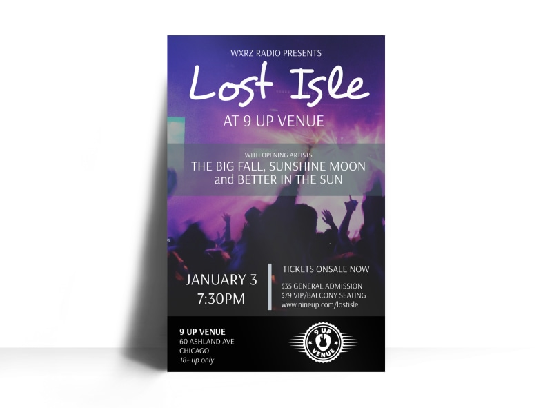 church lost isle concert poster template mycreativeshop
