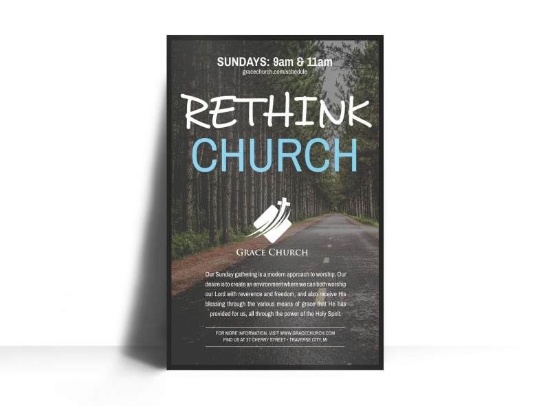 Rethink Church Outreach Poster Template