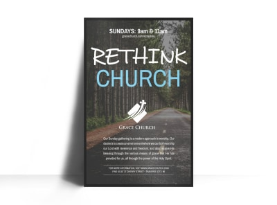 Rethink Church Outreach Poster Template preview