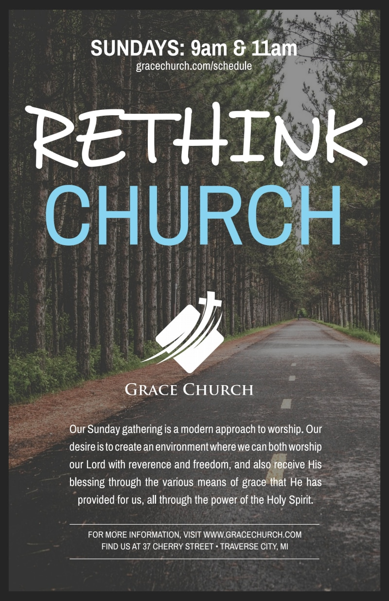 Rethink Church Outreach Poster Template Preview 2