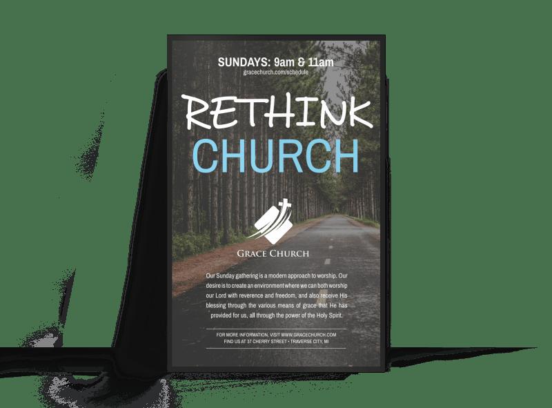 Rethink Church Outreach Poster
