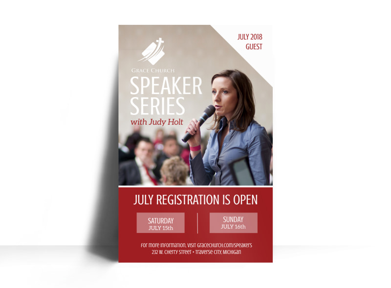 Church Guest Speaker Series Poster Template Preview 3