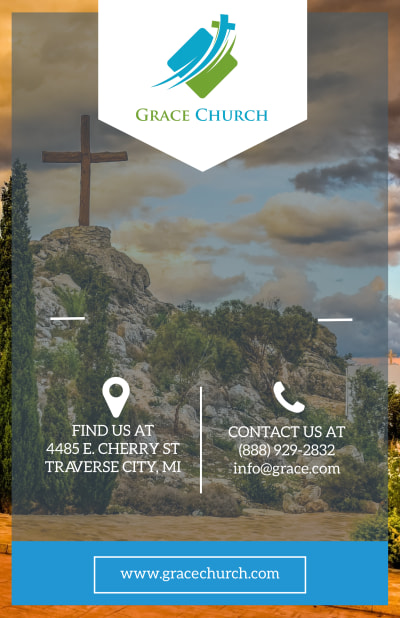 Church Sunday Service Poster Template Preview 1