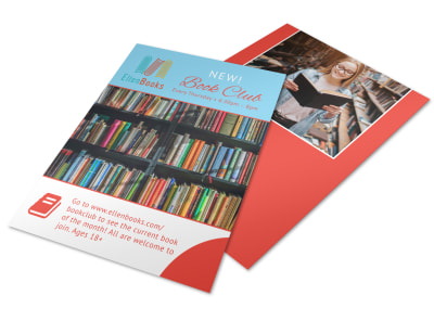 Ellen Book Club Outreach Flyer Template
