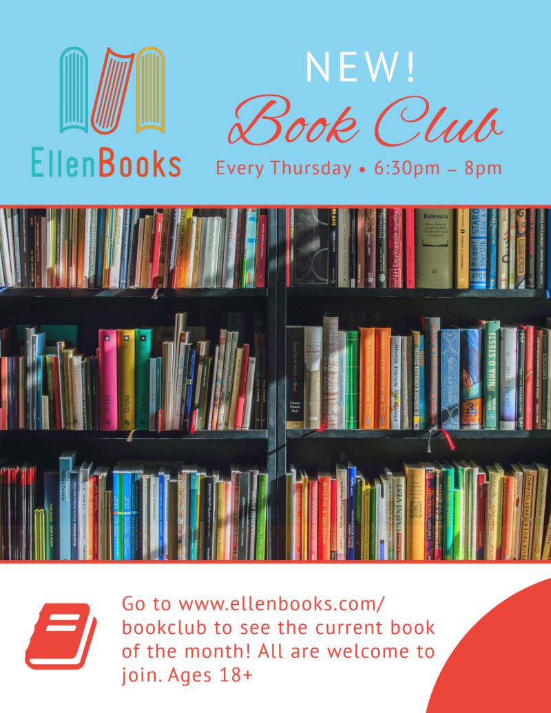 Ellen Book Club Outreach Flyer Template Preview 2