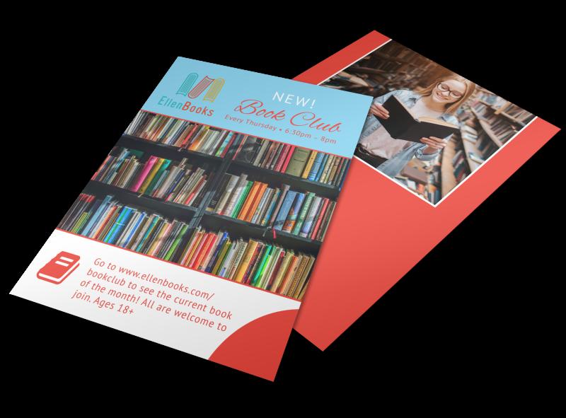 Ellen Book Club Outreach Flyer Template Preview 1