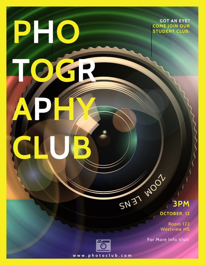 School Camera Club Flyer Template Preview 2
