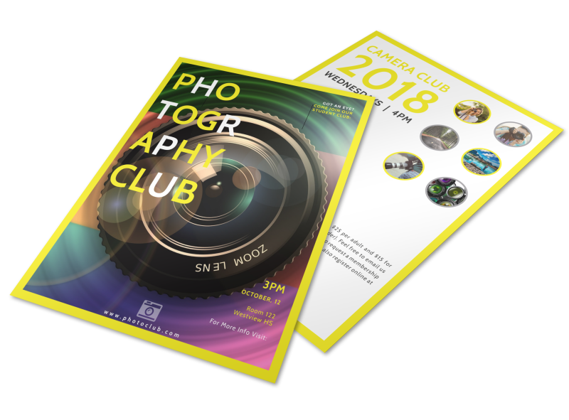 School Camera Club Flyer Template Preview 1