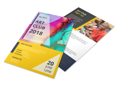 School Art Club Flyer Template