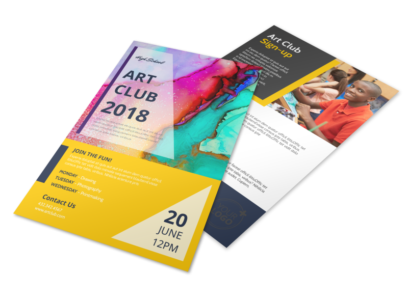 School Art Club Flyer Template Preview 1