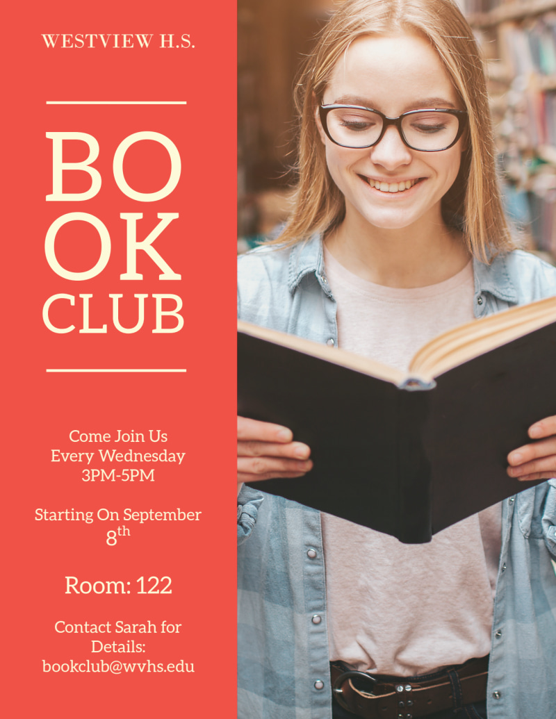 School Book Club Flyer Template Preview 2