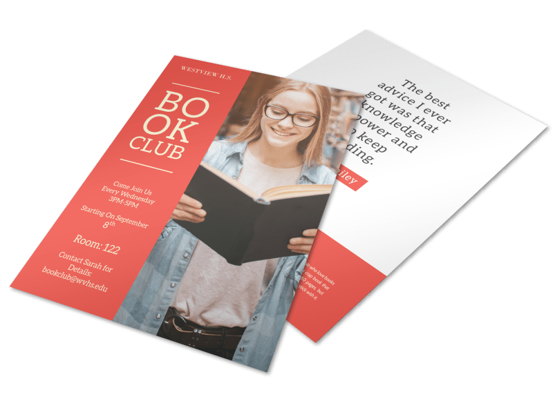 School Book Club Flyer Template Preview 1