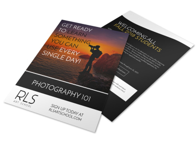 RLS Photography Club Flyer Template preview