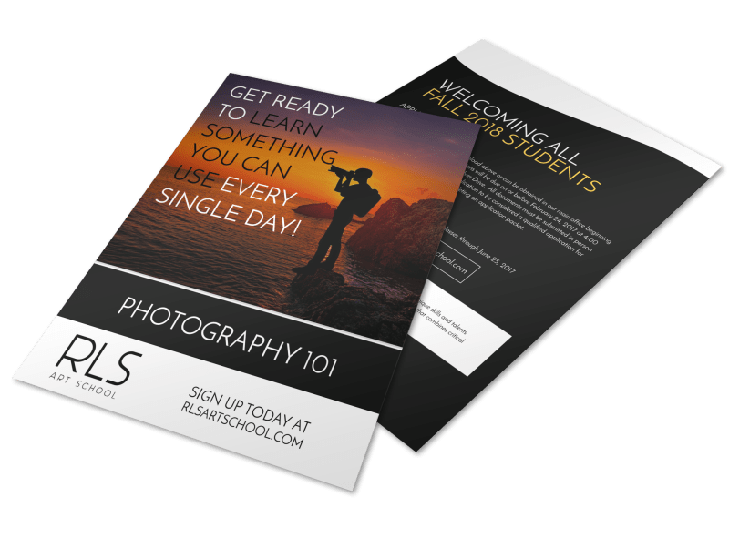 RLS Photography Club Flyer Template Preview 1