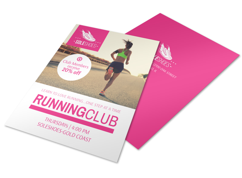 Sole Shoes Running Club Flyer Template