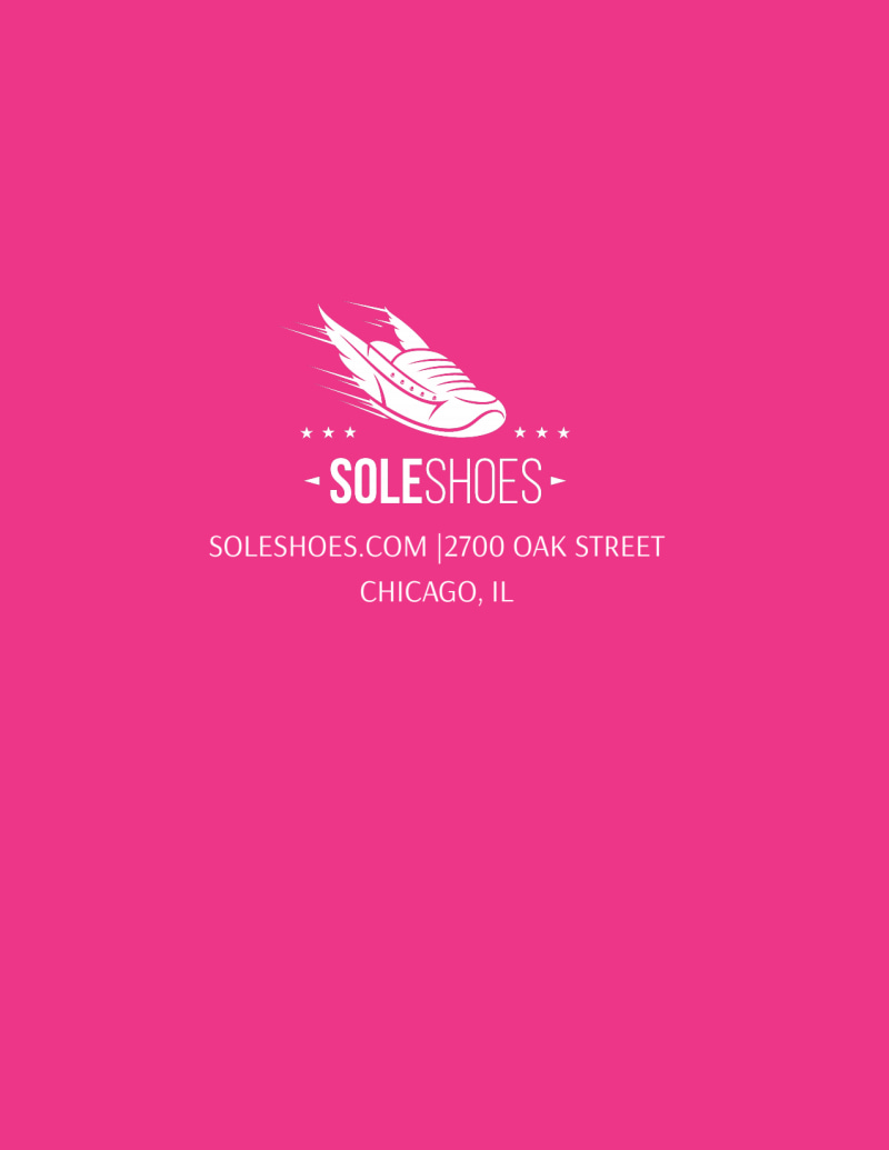 Sole Shoes Running Club Flyer Template Preview 3