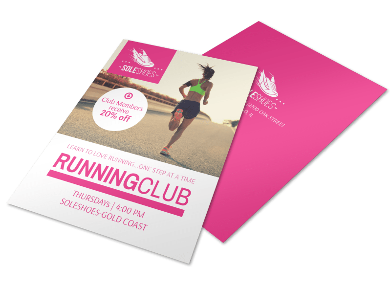 Sole Shoes Running Club Flyer Template Preview 1