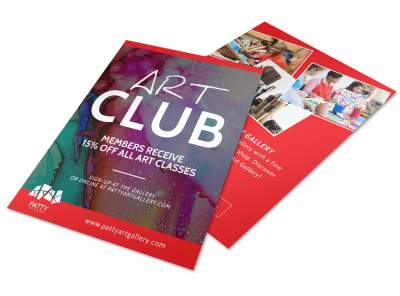 Patty Art Club Flyer Template preview