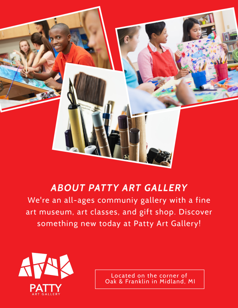 Patty Art Club Flyer Template Preview 3