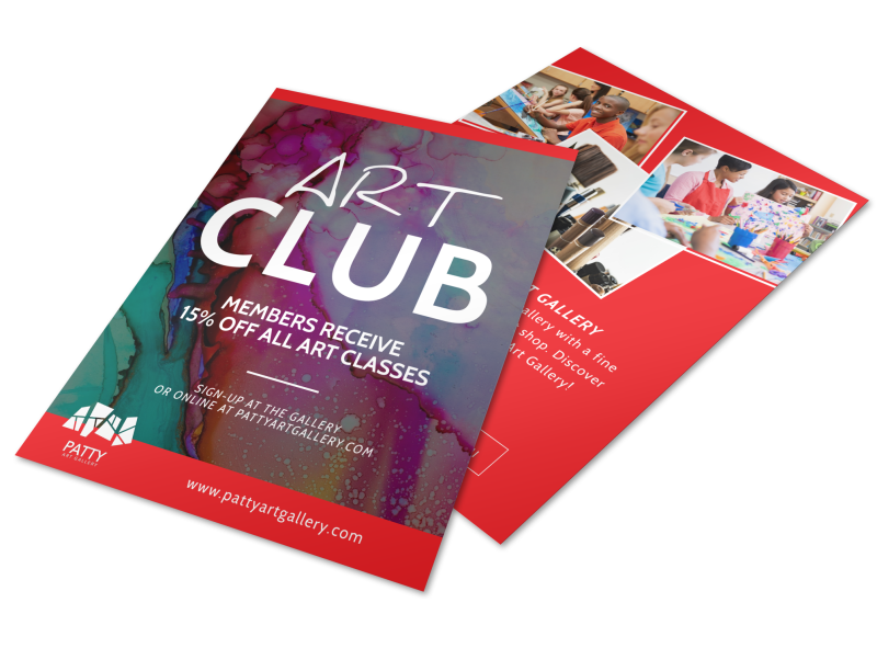 Patty Art Club Flyer Template Preview 1