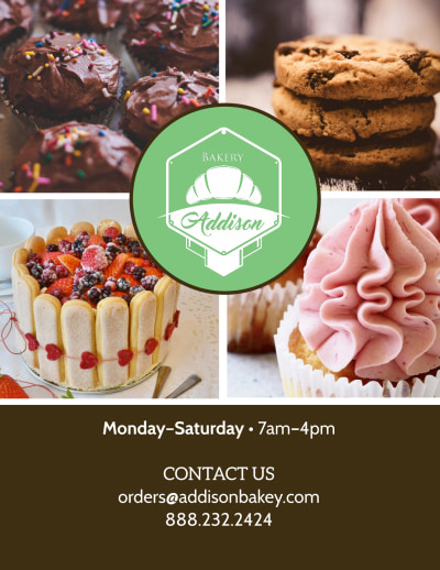 Sweets & Treats Bakery Menu Flyer Template Preview 2