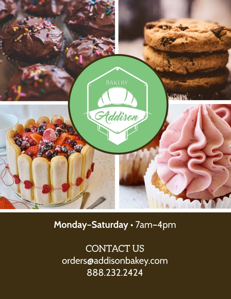 Sweets & Treats Bakery Menu Flyer Template Preview 3