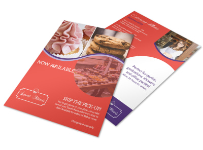 Design Custom Bakery Flyers Online MyCreativeShop - Bakery brochure template