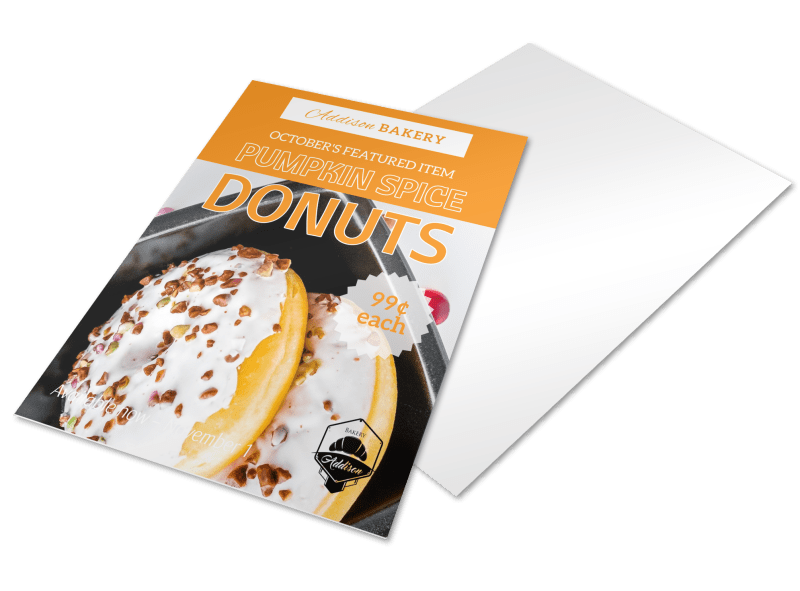 Donuts Sale Bakery Flyer Template Preview 1